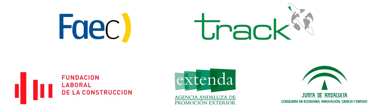 Logotipos Track, Faec, Fundación Laboral para la Construcción y Extenda